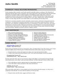 professional public relations resume samples templates pr resume template