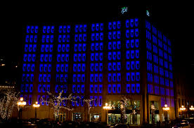 architecture of the night wikipedia free encyclopedia indianapolis power light headquarters building 1968 remodeling by lennox interior design british lighting designers