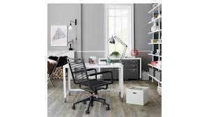 go cart white rolling desk cb2 office
