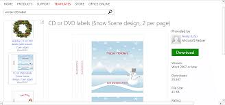 winter templates for microsoft office