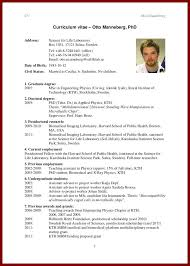 graduate student cv format sendletters info cv template example2 gif cv for otto manneberg phd