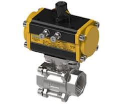 "Water Valve - 2-<b>1/2</b>"" 3PC Ball Valve with Actuator (<b>SS-304</b> ..."
