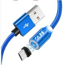 <b>OLAF</b> Magnetic Cable Micro-<b>USB</b> Fast Charging Adapter with <b>LED</b>