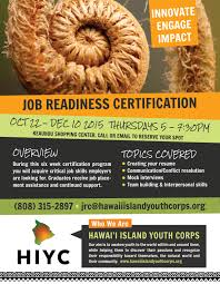 job readiness certification program hiyc don t hesitate to contact us if you would like to sign up or if you would just like some more information about the certification process and job placement