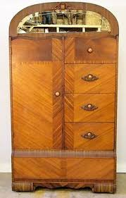 vintage cedar lined art deco wardrobe chest drawers mirror c1940 335 ebay art deco figured walnut wardrobe vintage