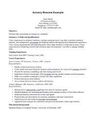 actuary resume objective actuary resume actuary resume exampl actuary cover letter actuary resume