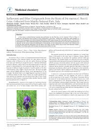 Isoflavones and Other Compounds from the Roots of Iris marsica I ...