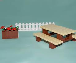 Lego Furniture Lego Furniture Picnic Table Set W Instructions Parts Minifig