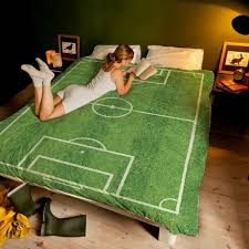 Креативное <b>постельное белье</b> Футбольное поле | Постельное ...