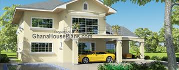 Ghana House Plans   Tamakloe House Plans Home Front ViewTamakloe House Plans Home Front View