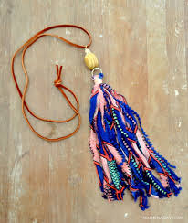 <b>How to make Fabric Tassel</b> Necklaces • Made in a Day
