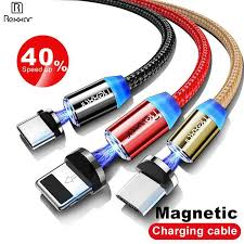 Rexxar <b>1M Magnetic</b> Charge <b>Cable Micro</b> USB <b>Cable</b> For iPhone X ...
