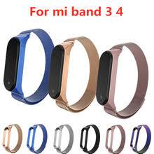 Mi band 4 3 <b>металлический ремешок браслет для Xiaomi</b> mi Band ...