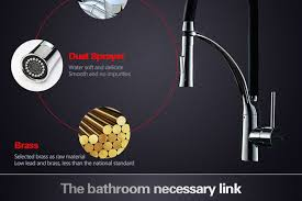 OKAROS Pull Out <b>Kitchen</b> Faucet Black <b>Chrome Finish Dual</b> ...