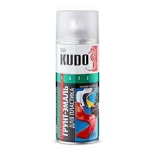 <b>Грунт</b>-<b>эмаль аэрозольная</b> для <b>пластика</b> Kudo KU-6001 серая (0 ...