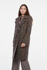 Двубортное <b>пальто</b> коричневый цвет - <b>Пальто LIME</b>