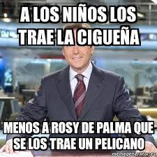 Meme Matias Prats - A LOS NIÑOS LOS TRAE LA CIGUEÑA MENOS A ROSY ... via Relatably.com