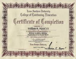 7 more online help pro 2009 certificate of completion ethical decision making implications for social work texas southern university college of continuing education