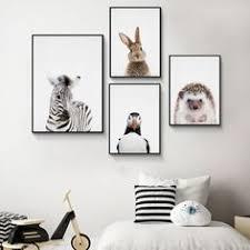 Zebra Hedgehog Animal Posters and Prints Nursery <b>Canvas</b> ...