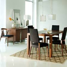 astonishing modern dining room sets: classic contemporary dining room furniture set with wooden table with grey chairs in a white