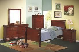 cherry finish louis philippe bedroom