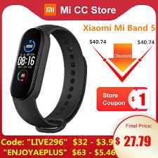 <b>Original</b> Xiaomi Mi <b>Band 5</b> Wristband 4 Color Heart Rate Fitness ...