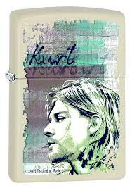Бензиновая <b>зажигалка Zippo Kurt Cobain</b>, 10 мл — купить в ...