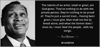 TOP 25 QUOTES BY PAUL ROBESON (of 67) | A-Z Quotes