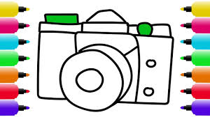 Small Picture How to Draw Camera Coloring Pages for Baby Drawing Videos for