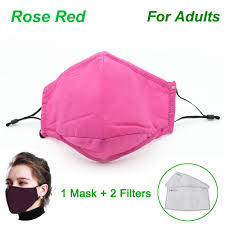 Non-medical <b>Cotton Black Mouth Face</b> Mask with 2 Activated ...
