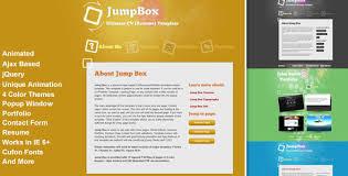 creative responsive resume templates  cv templates of jumpbox
