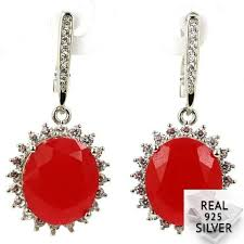 <b>Real</b> 9.7g <b>925 Solid</b> Sterling Silver Ravishing <b>Real</b> Blood Ruby, CZ ...