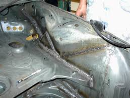 body metal repair double and triple seam welds along structural welds help strengthen the unibody