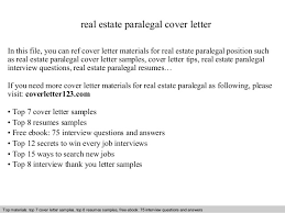 real estate paralegal cover letter real estate paralegal cover letter in this file you can sample paralegal cover letter