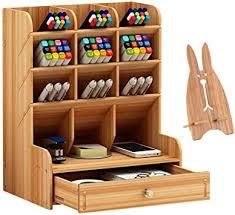 Marbrasse Wooden Pen Organizer, Multi-Functional ... - Amazon.com