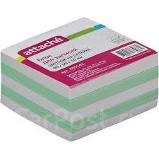 <b>Блок для</b> записи на склейке 9*9*5 цветной <b>Attache</b> - <b>Канцелярия</b> ...