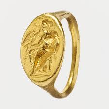 women in classical greece   essay   heilbrunn timeline of art    gold ring   intaglio of seated w  and flying eros