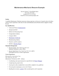maintenance duties resume examples maintenance workers mechanic gallery of maintenance sample resume
