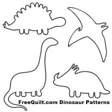<b>Dinosaur Patterns</b> | Dinosaur quilt, Dinosaur outline, Dinosaur crafts