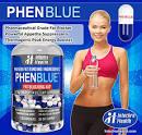 PHENBLUE fat Blocking Aid Diet Pills Blue White 120 Capsules