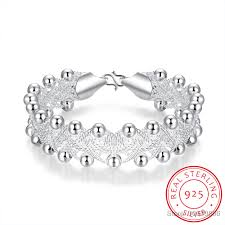 ASHIQI <b>Genuine</b> 925 Sterling Silver Bracelet For <b>Women</b> 7 8mm ...