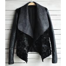 <b>Stylish Turn-Down Neck Long</b> Sleeve Spliced Women's Jacket ...