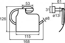 <b>Держатель туалетной бумаги Milardo</b> Solomon SOLSMC0M43 в ...
