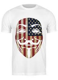 Футболка классическая USA <b>Anonymous</b> #1205459 от skynatural ...