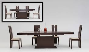 wood extendable dining table walnut modern tables: zenith modern red oak extendable dining table
