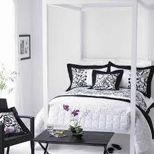 feminine bedroom furniture bed: feminine bedroom black and white decor