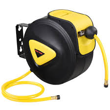 "Yescom 33'<b>x5</b>/16"" I.D. Retractable <b>Auto</b> Rewind Air Hose Reel <b>Wall</b> ..."