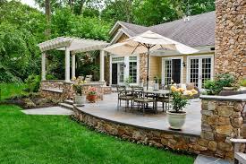 raised patio adjacent
