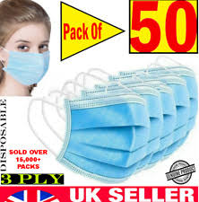 <b>Disposable Face Masks for</b> sale   eBay