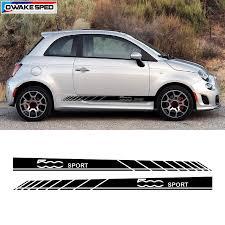 <b>2 pcs/ lot Car</b> Styling Racing Sport Stripes For Fiat 500 Auto Door ...